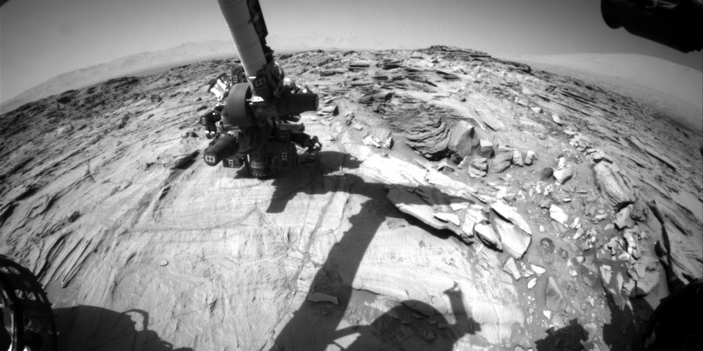 Nasa's Mars rover Curiosity acquired this image using its Front Hazard Avoidance Camera (Front Hazcam) on Sol 1332, at drive 938, site number 54