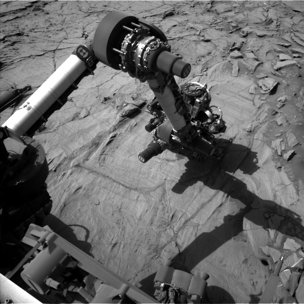NASA's Mars rover Curiosity acquired this image using its Left Navigation Camera (Navcams) on Sol 1332