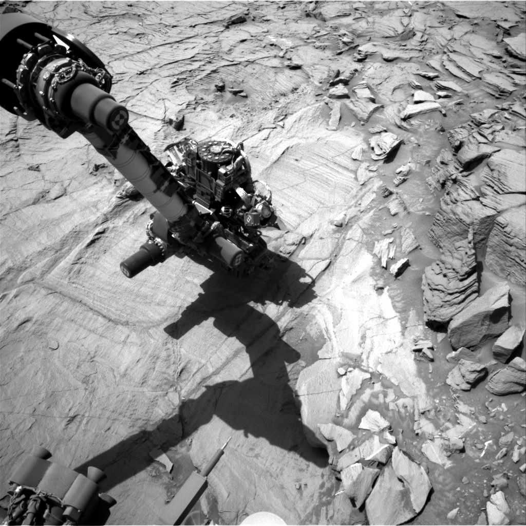 Nasa's Mars rover Curiosity acquired this image using its Right Navigation Camera on Sol 1332, at drive 938, site number 54