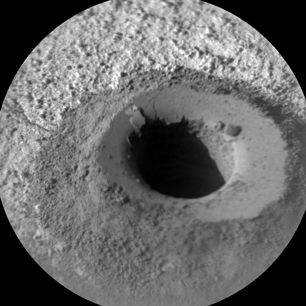 Nasa's Mars rover Curiosity acquired this image using its Chemistry & Camera (ChemCam) on Sol 1337, at drive 938, site number 54