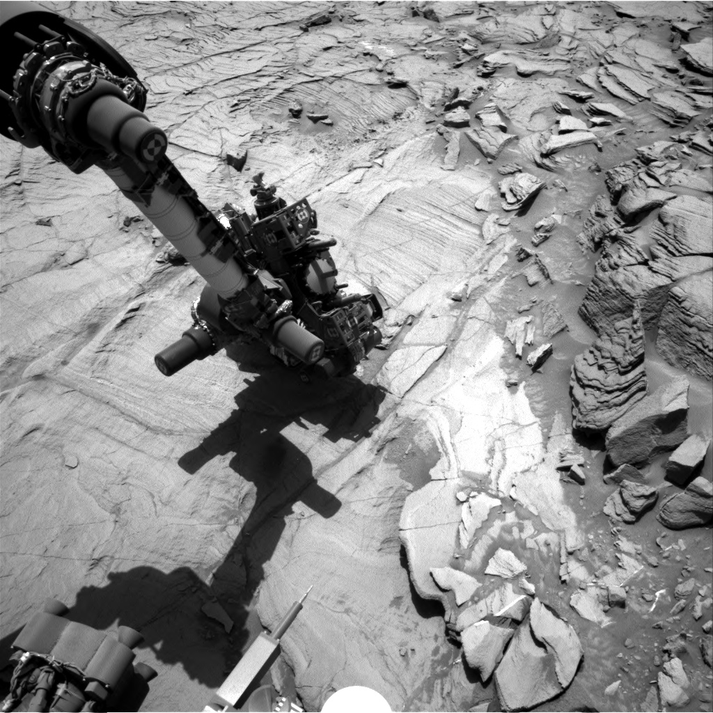 Nasa's Mars rover Curiosity acquired this image using its Right Navigation Camera on Sol 1338, at drive 938, site number 54