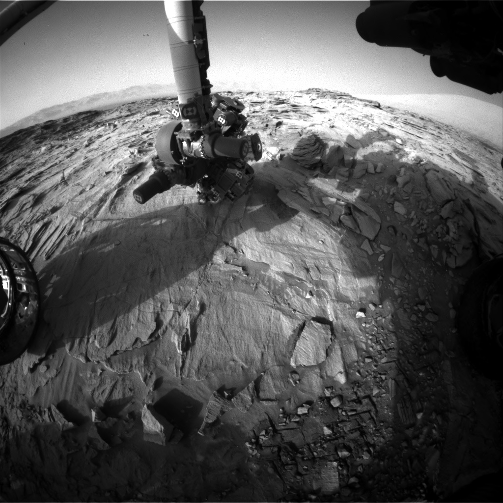 Nasa's Mars rover Curiosity acquired this image using its Front Hazard Avoidance Camera (Front Hazcam) on Sol 1339, at drive 938, site number 54
