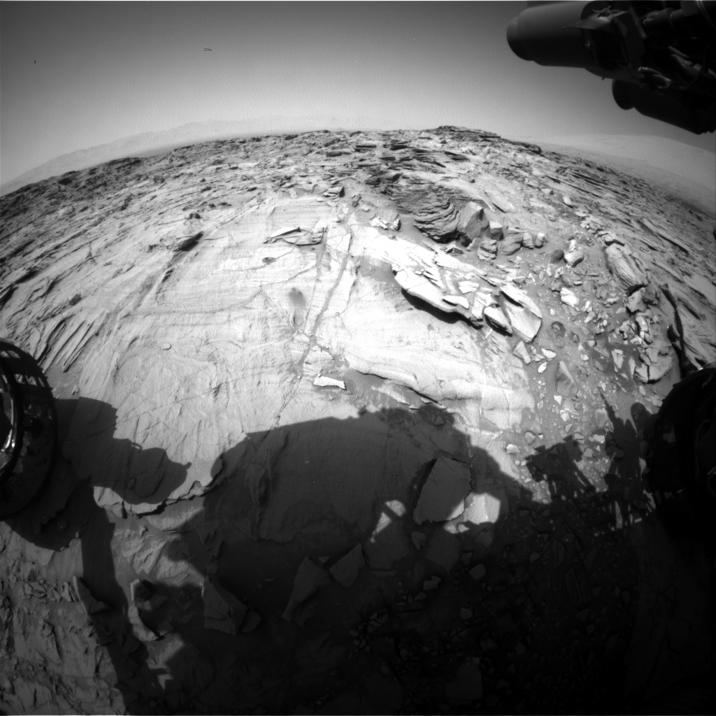 Nasa's Mars rover Curiosity acquired this image using its Front Hazard Avoidance Camera (Front Hazcam) on Sol 1340, at drive 938, site number 54