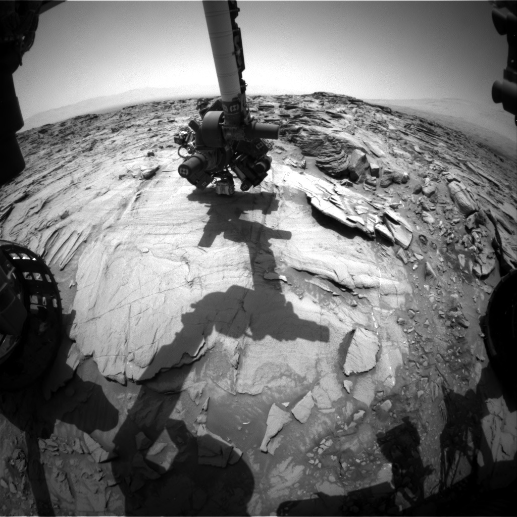 NASA's Mars rover Curiosity acquired this image using its Front Hazard Avoidance Cameras (Front Hazcams) on Sol 1342