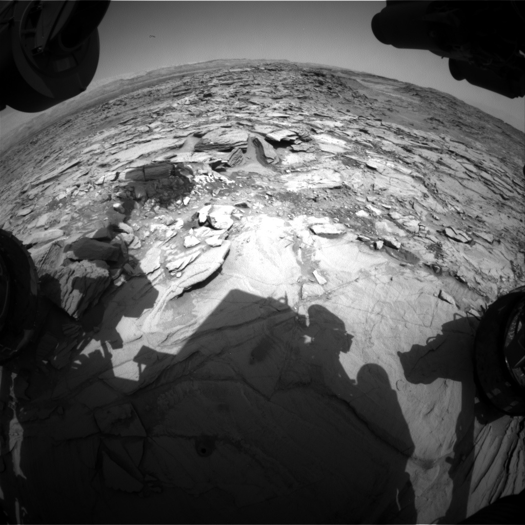 Nasa's Mars rover Curiosity acquired this image using its Front Hazard Avoidance Camera (Front Hazcam) on Sol 1342, at drive 992, site number 54
