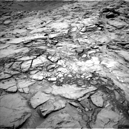 Nasa's Mars rover Curiosity acquired this image using its Left Navigation Camera on Sol 1342, at drive 938, site number 54