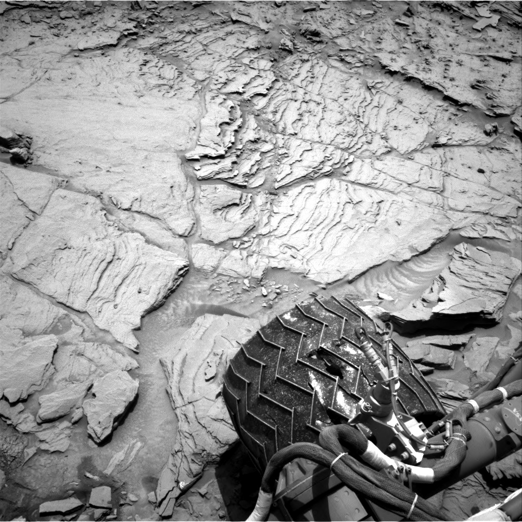 Nasa's Mars rover Curiosity acquired this image using its Right Navigation Camera on Sol 1342, at drive 992, site number 54