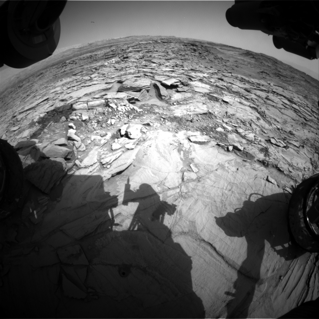 Nasa's Mars rover Curiosity acquired this image using its Front Hazard Avoidance Camera (Front Hazcam) on Sol 1343, at drive 992, site number 54