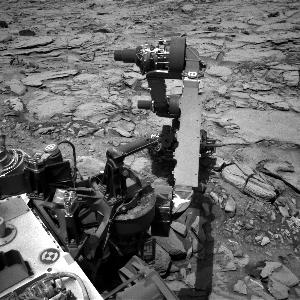 Nasa's Mars rover Curiosity acquired this image using its Left Navigation Camera on Sol 1344, at drive 992, site number 54