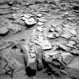 Nasa's Mars rover Curiosity acquired this image using its Left Navigation Camera on Sol 1344, at drive 1052, site number 54