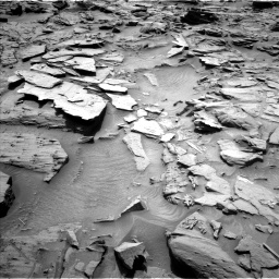 Nasa's Mars rover Curiosity acquired this image using its Left Navigation Camera on Sol 1344, at drive 1082, site number 54