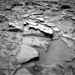 Nasa's Mars rover Curiosity acquired this image using its Left Navigation Camera on Sol 1344, at drive 1088, site number 54