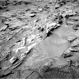 Nasa's Mars rover Curiosity acquired this image using its Left Navigation Camera on Sol 1344, at drive 1184, site number 54