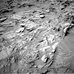 Nasa's Mars rover Curiosity acquired this image using its Left Navigation Camera on Sol 1344, at drive 1190, site number 54