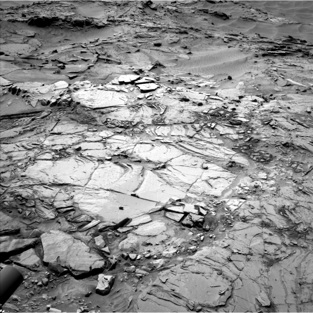 Nasa's Mars rover Curiosity acquired this image using its Left Navigation Camera on Sol 1344, at drive 1214, site number 54