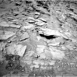Nasa's Mars rover Curiosity acquired this image using its Left Navigation Camera on Sol 1344, at drive 1232, site number 54