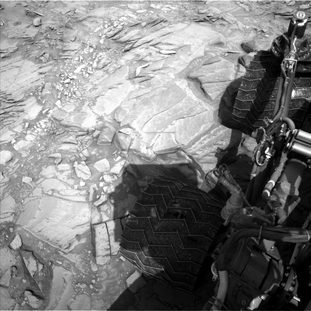 Nasa's Mars rover Curiosity acquired this image using its Left Navigation Camera on Sol 1344, at drive 1238, site number 54