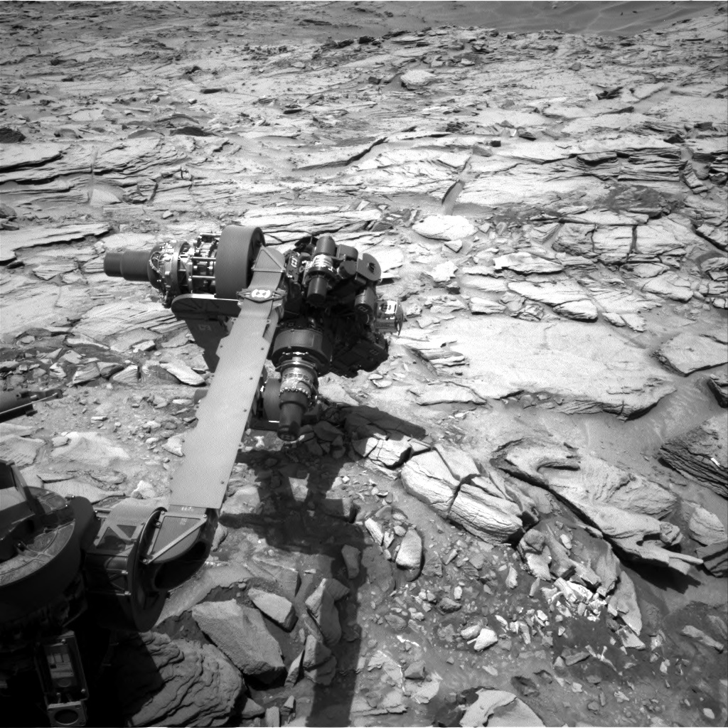 Nasa's Mars rover Curiosity acquired this image using its Right Navigation Camera on Sol 1344, at drive 992, site number 54