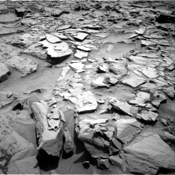 Nasa's Mars rover Curiosity acquired this image using its Right Navigation Camera on Sol 1344, at drive 1058, site number 54