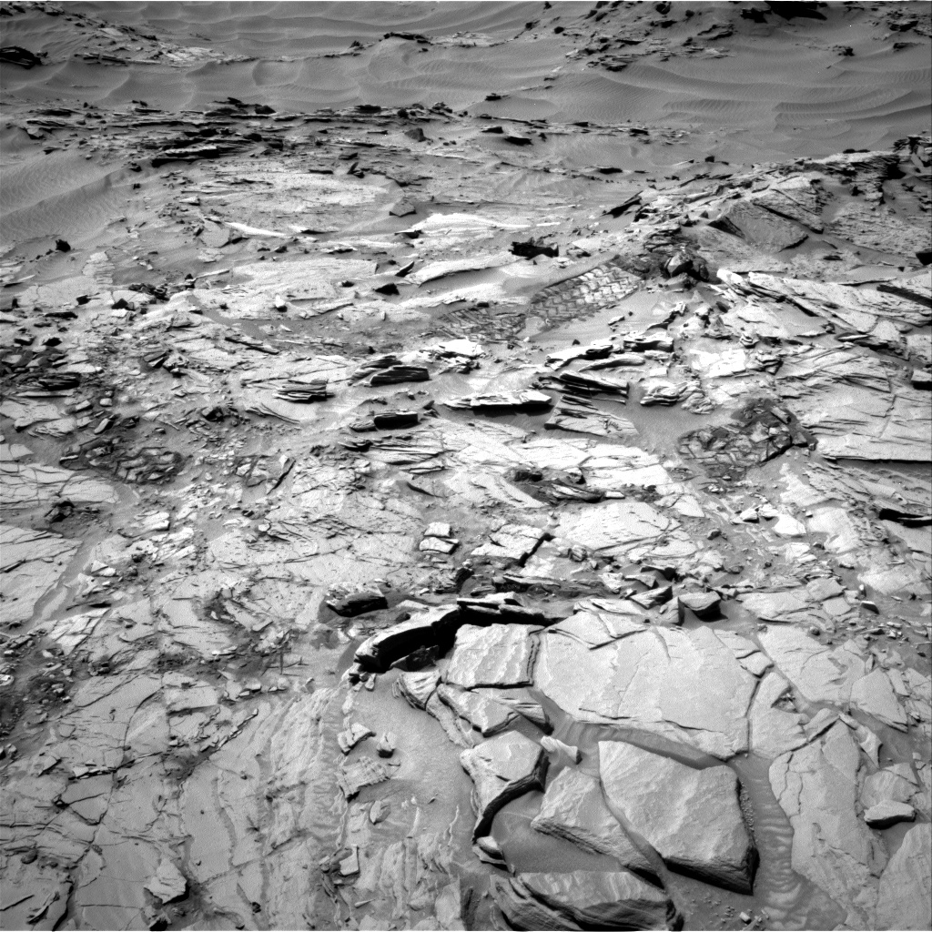 Nasa's Mars rover Curiosity acquired this image using its Right Navigation Camera on Sol 1344, at drive 1214, site number 54