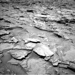 Nasa's Mars rover Curiosity acquired this image using its Left Navigation Camera on Sol 1346, at drive 1292, site number 54