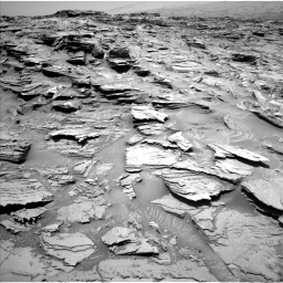 Nasa's Mars rover Curiosity acquired this image using its Left Navigation Camera on Sol 1346, at drive 1298, site number 54