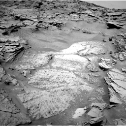 Nasa's Mars rover Curiosity acquired this image using its Left Navigation Camera on Sol 1346, at drive 1322, site number 54