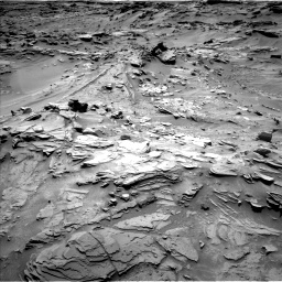 Nasa's Mars rover Curiosity acquired this image using its Left Navigation Camera on Sol 1346, at drive 1484, site number 54
