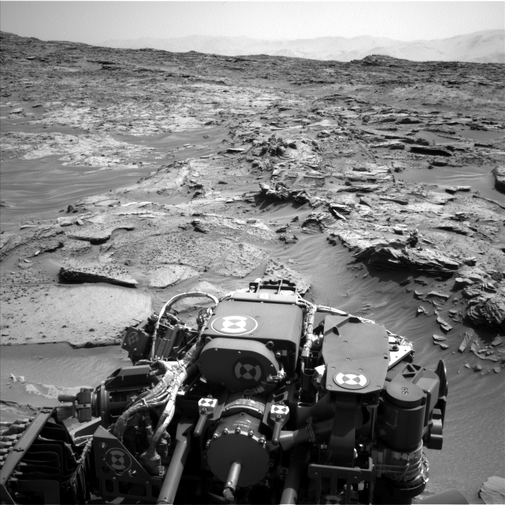Nasa's Mars rover Curiosity acquired this image using its Left Navigation Camera on Sol 1346, at drive 1490, site number 54
