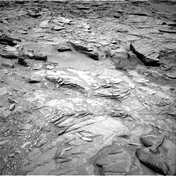 Nasa's Mars rover Curiosity acquired this image using its Right Navigation Camera on Sol 1346, at drive 1256, site number 54