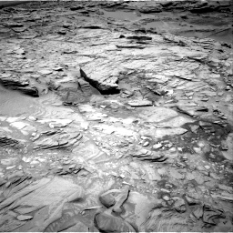 Nasa's Mars rover Curiosity acquired this image using its Right Navigation Camera on Sol 1346, at drive 1262, site number 54