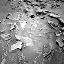 Nasa's Mars rover Curiosity acquired this image using its Right Navigation Camera on Sol 1346, at drive 1364, site number 54