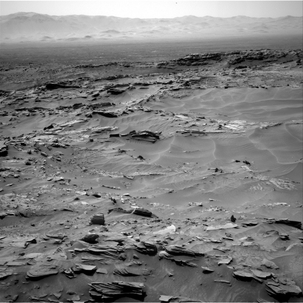 Nasa's Mars rover Curiosity acquired this image using its Right Navigation Camera on Sol 1346, at drive 1490, site number 54