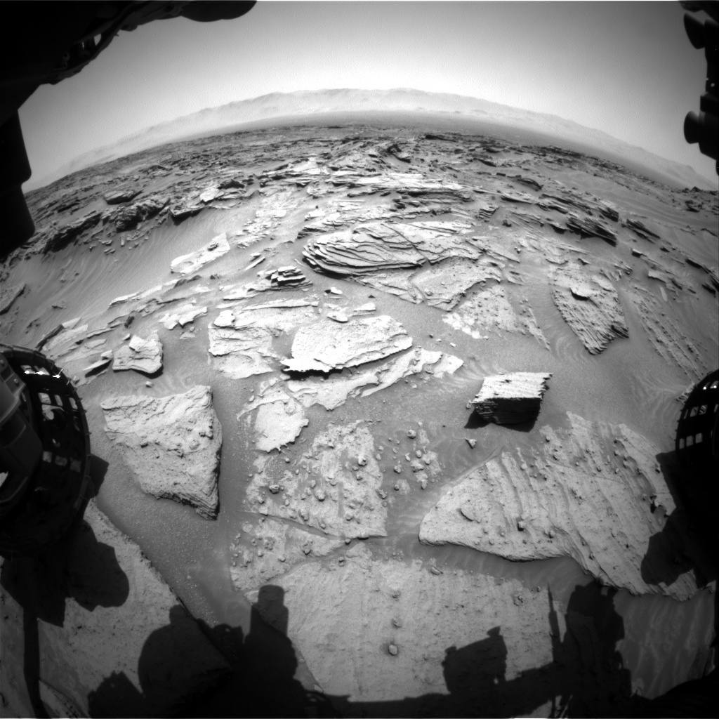 NASA's Mars rover Curiosity acquired this image using its Front Hazard Avoidance Cameras (Front Hazcams) on Sol 1347