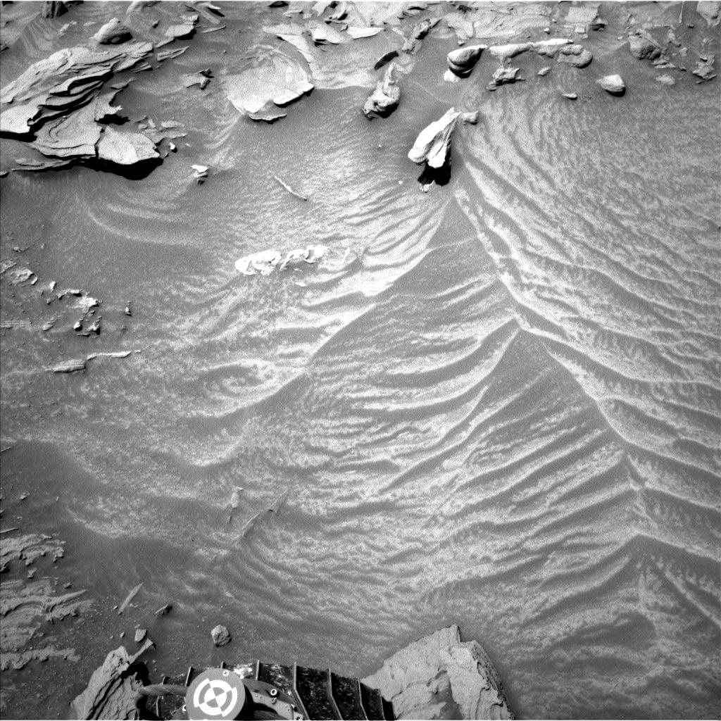 Sand near the rover's wheel