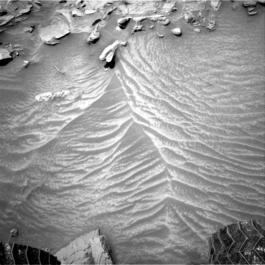 Nasa's Mars rover Curiosity acquired this image using its Right Navigation Camera on Sol 1347, at drive 1490, site number 54