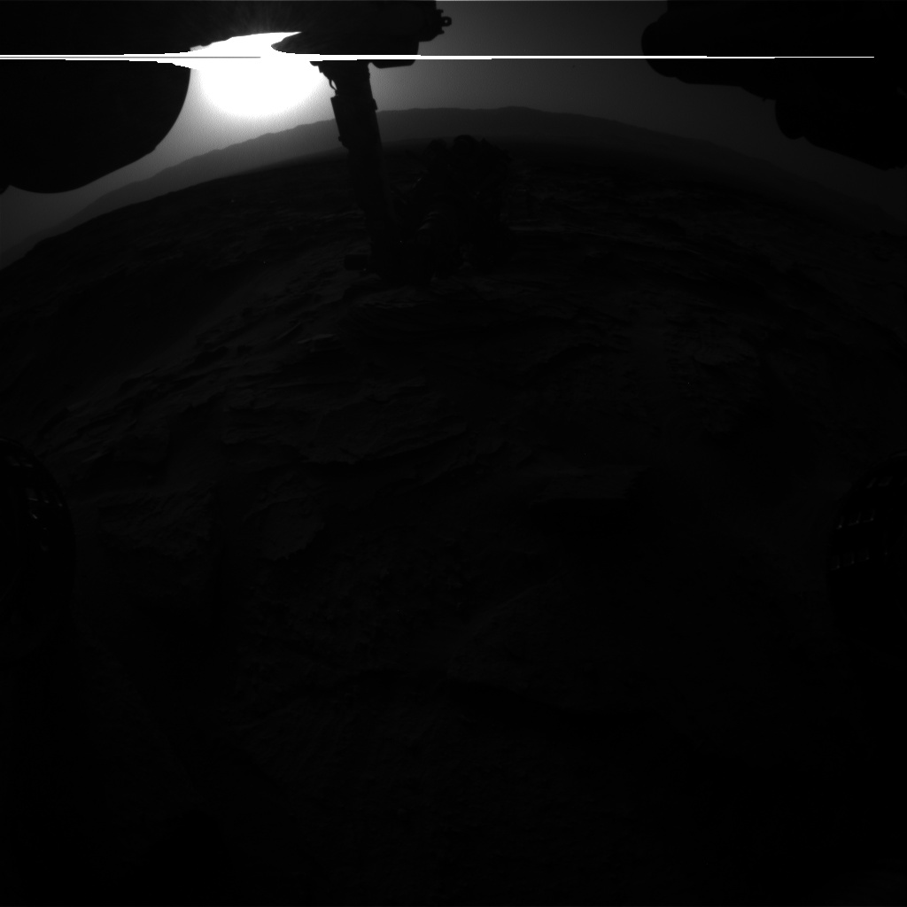 Nasa's Mars rover Curiosity acquired this image using its Front Hazard Avoidance Camera (Front Hazcam) on Sol 1348, at drive 1490, site number 54