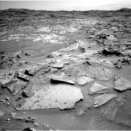 Nasa's Mars rover Curiosity acquired this image using its Left Navigation Camera on Sol 1349, at drive 1496, site number 54