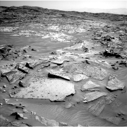 Nasa's Mars rover Curiosity acquired this image using its Left Navigation Camera on Sol 1349, at drive 1514, site number 54