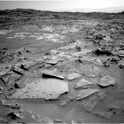Nasa's Mars rover Curiosity acquired this image using its Left Navigation Camera on Sol 1349, at drive 1532, site number 54