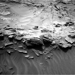 Nasa's Mars rover Curiosity acquired this image using its Left Navigation Camera on Sol 1349, at drive 1550, site number 54