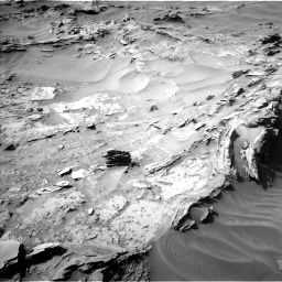 Nasa's Mars rover Curiosity acquired this image using its Left Navigation Camera on Sol 1349, at drive 1598, site number 54
