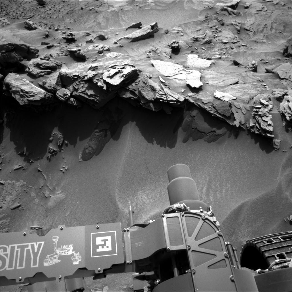 NASA's Mars rover Curiosity acquired this image using its Left Navigation Camera (Navcams) on Sol 1349