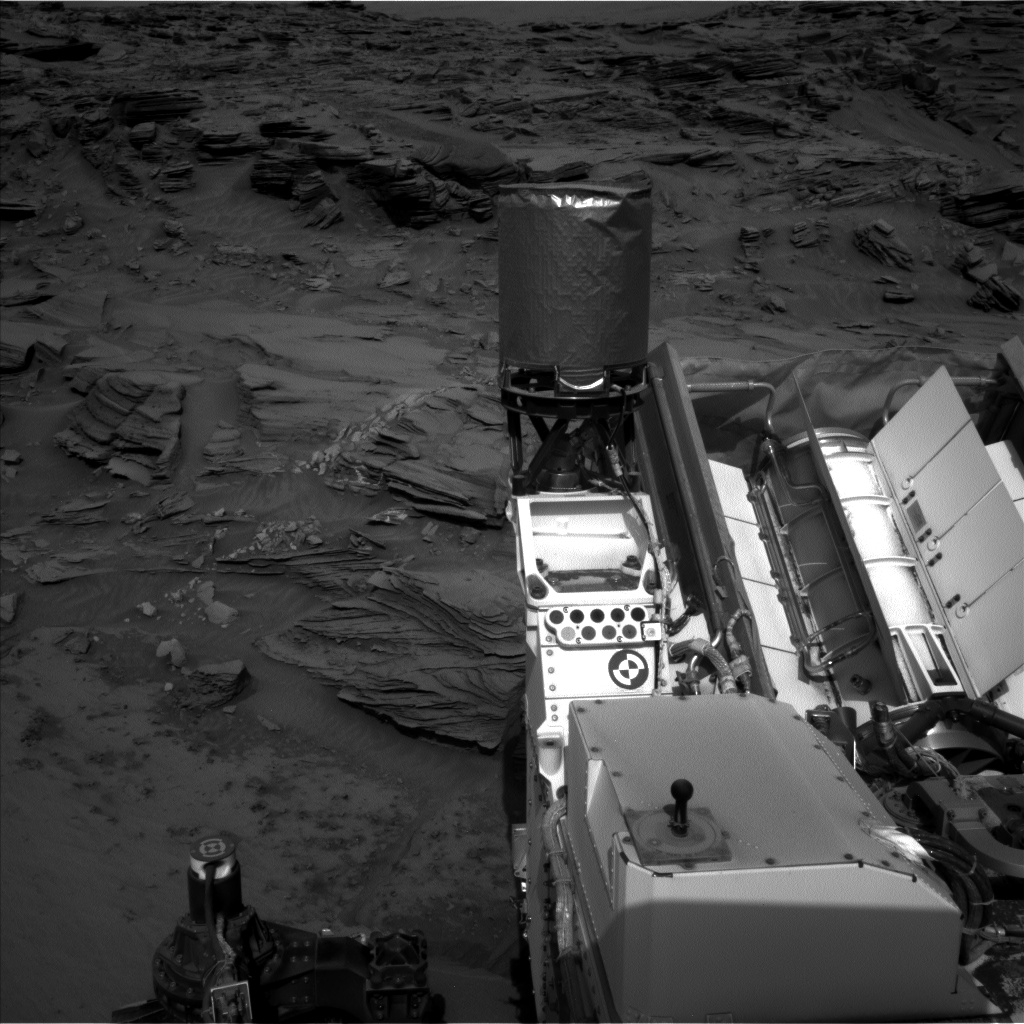 Nasa's Mars rover Curiosity acquired this image using its Left Navigation Camera on Sol 1349, at drive 1610, site number 54