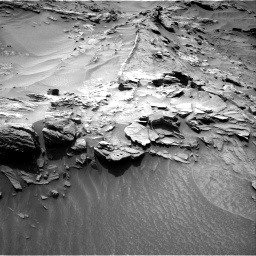 Nasa's Mars rover Curiosity acquired this image using its Right Navigation Camera on Sol 1349, at drive 1544, site number 54
