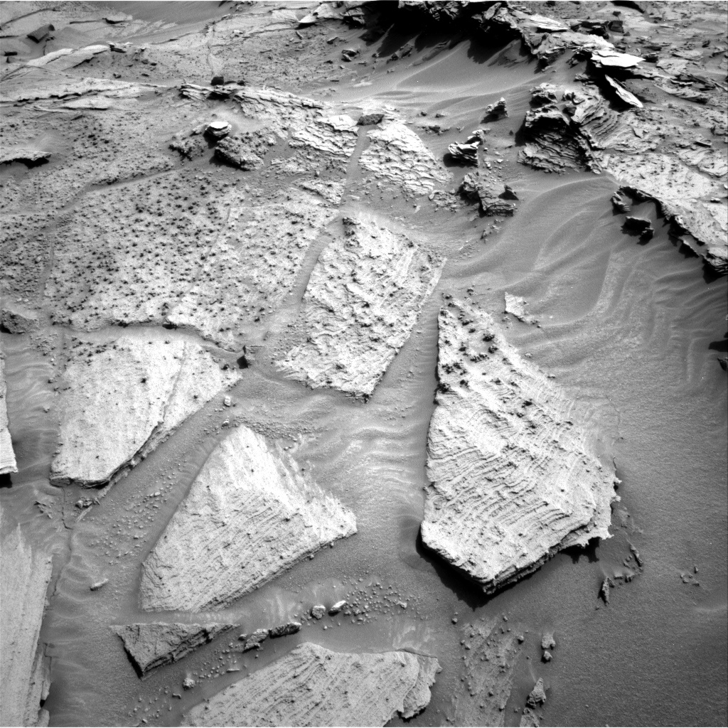 Nasa's Mars rover Curiosity acquired this image using its Right Navigation Camera on Sol 1349, at drive 1550, site number 54
