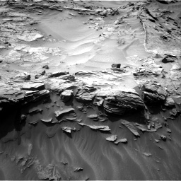 Nasa's Mars rover Curiosity acquired this image using its Right Navigation Camera on Sol 1349, at drive 1556, site number 54