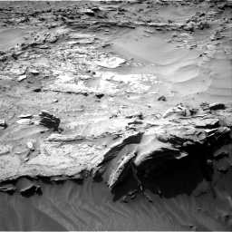 Nasa's Mars rover Curiosity acquired this image using its Right Navigation Camera on Sol 1349, at drive 1568, site number 54