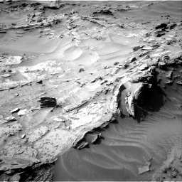Nasa's Mars rover Curiosity acquired this image using its Right Navigation Camera on Sol 1349, at drive 1598, site number 54