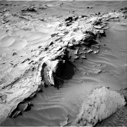Nasa's Mars rover Curiosity acquired this image using its Right Navigation Camera on Sol 1349, at drive 1604, site number 54